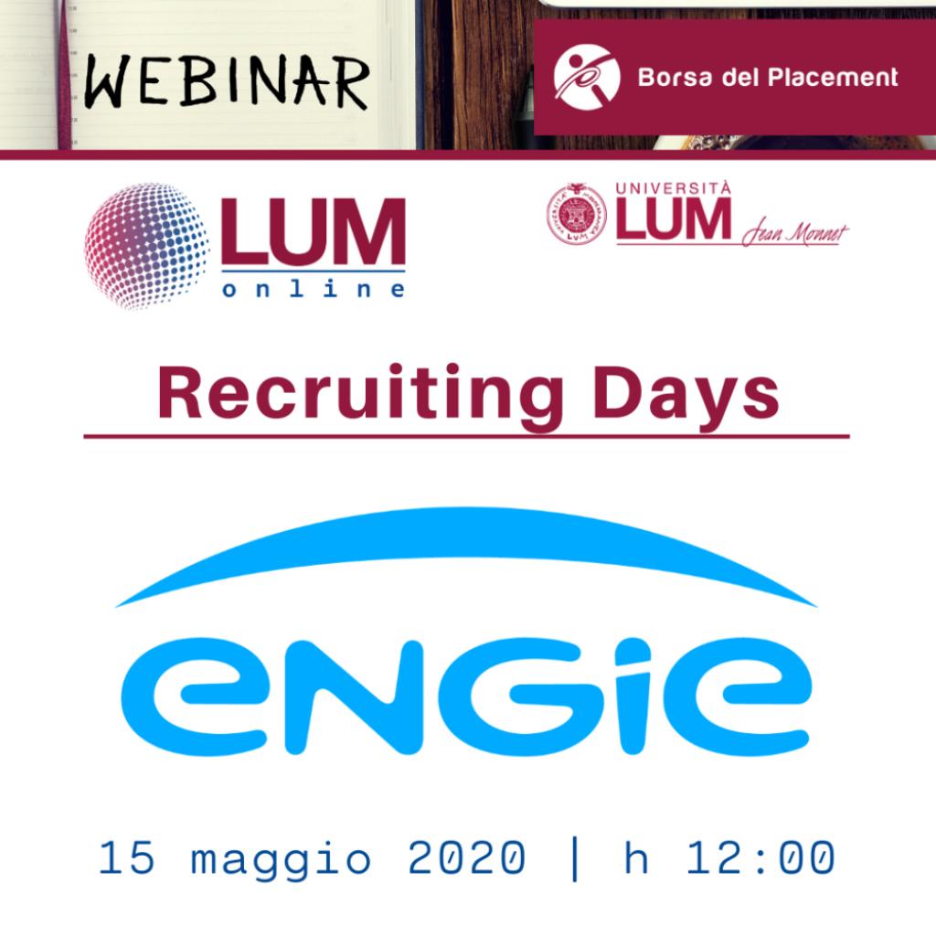 LOL - LUM On Line | Recruiting Days | Engie Italia