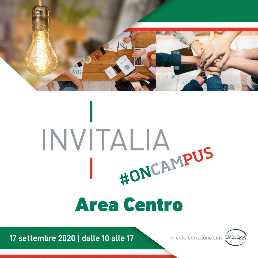 Invitalia #oncampus | Area Centro