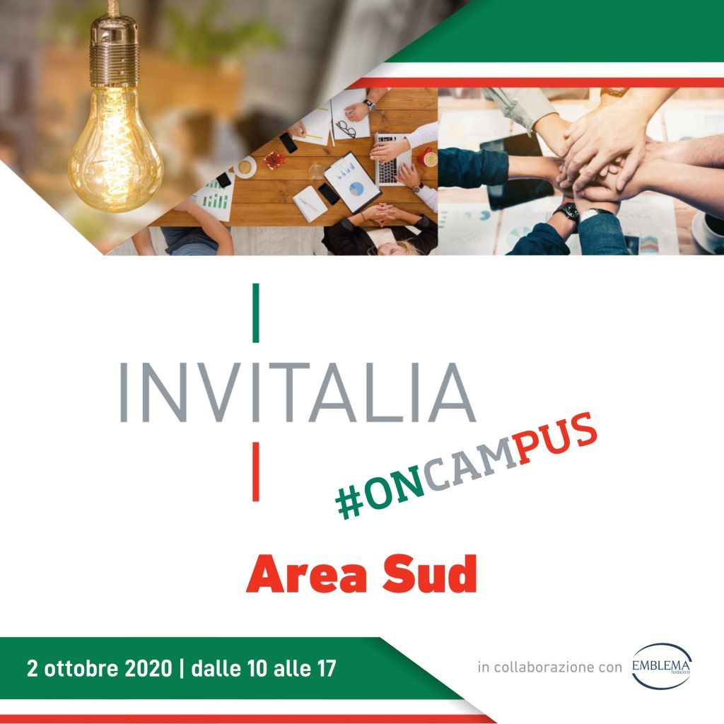 Invitalia #oncampus | Area Sud