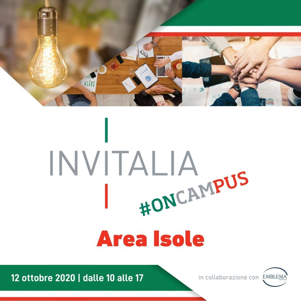 Invitalia #oncampus | Area Isole