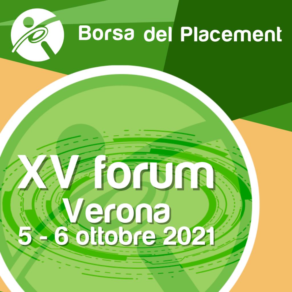 Borsa del Placement 2021 | XV forum | Verona - Palazzo della Gran Guardia