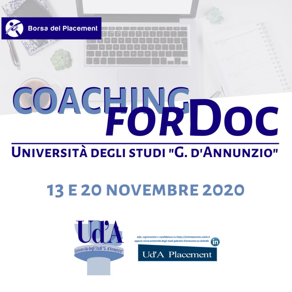 Coaching forDoc | Università degli Studi 'G. d'Annunzio'