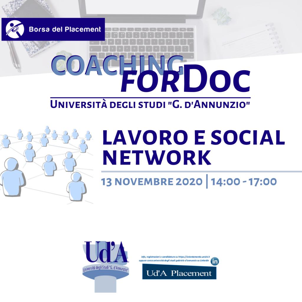UdA | Coaching forDoc | Lavoro e social network