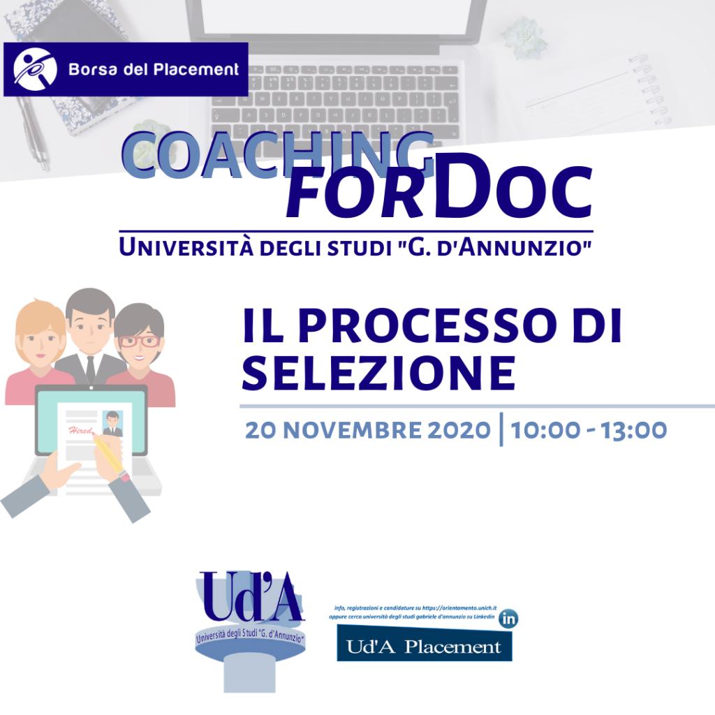 UdA | Coaching forDoc | Il processo di selezione
