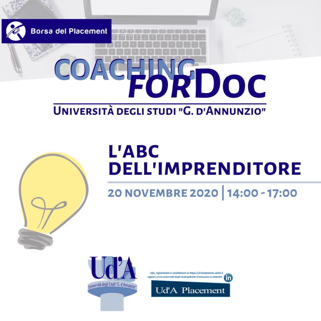 UdA | Coaching forDoc | ABC dell'Imprenditore