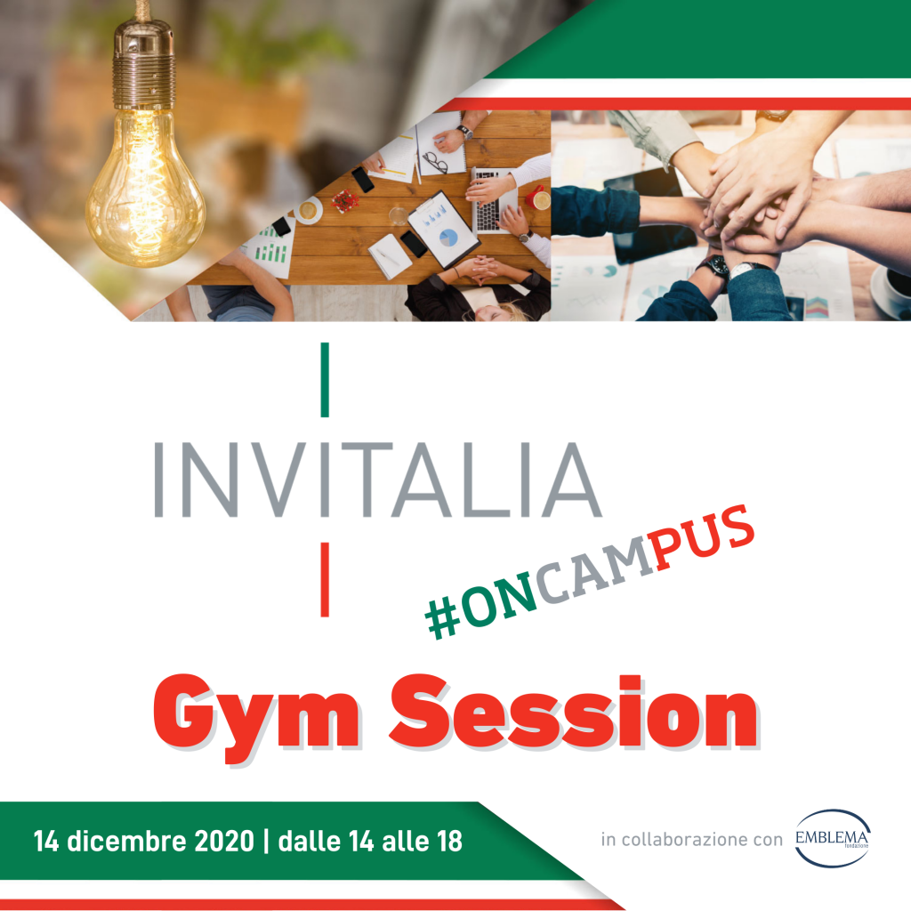 Invitalia #oncampus | Gym Session II° ciclo
