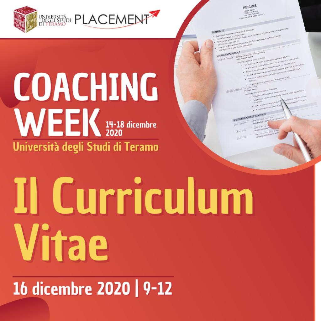 UniTE | Coaching Week | Il Curriculum Vitae