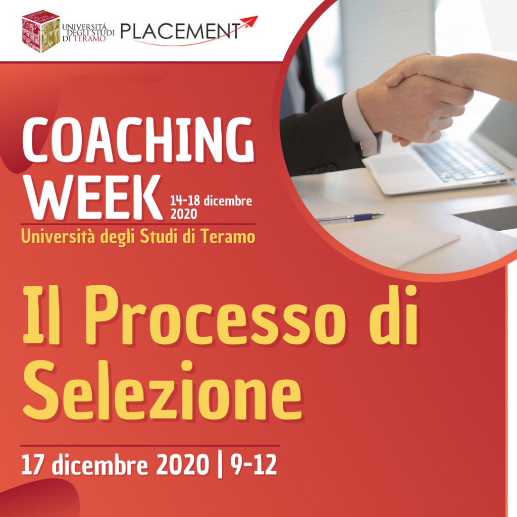 UniTE | Coaching Week | Il Processo di Selezione