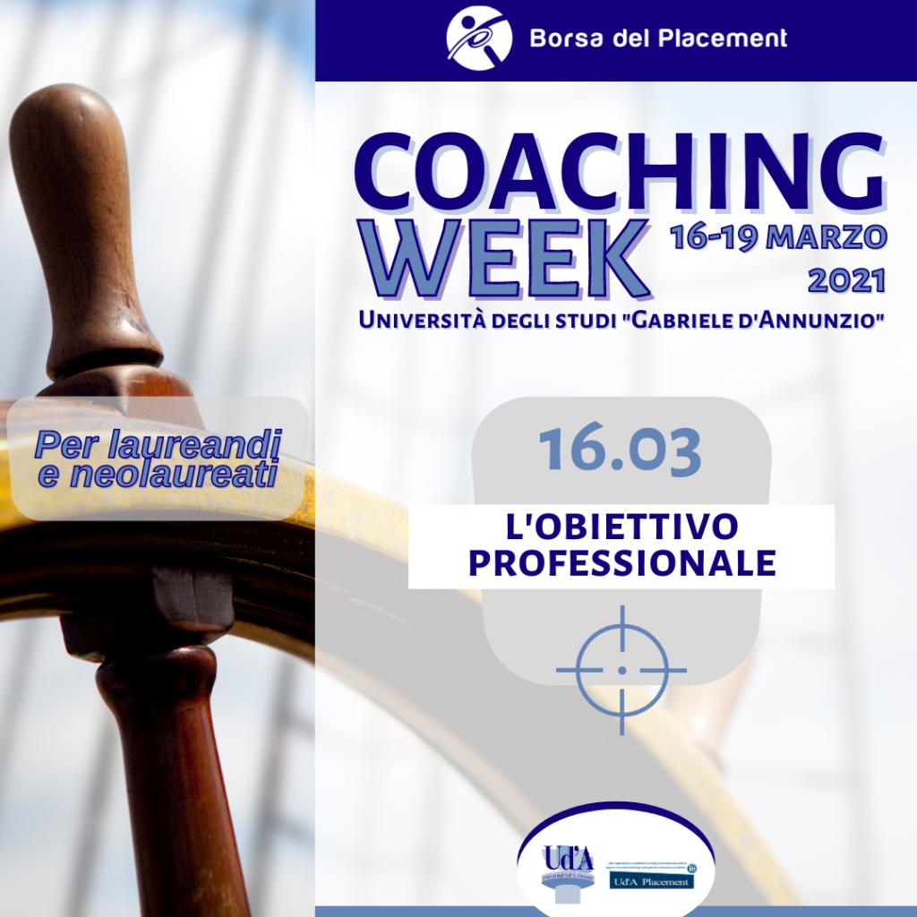 Coaching Week Ud'A | Obiettivo professionale