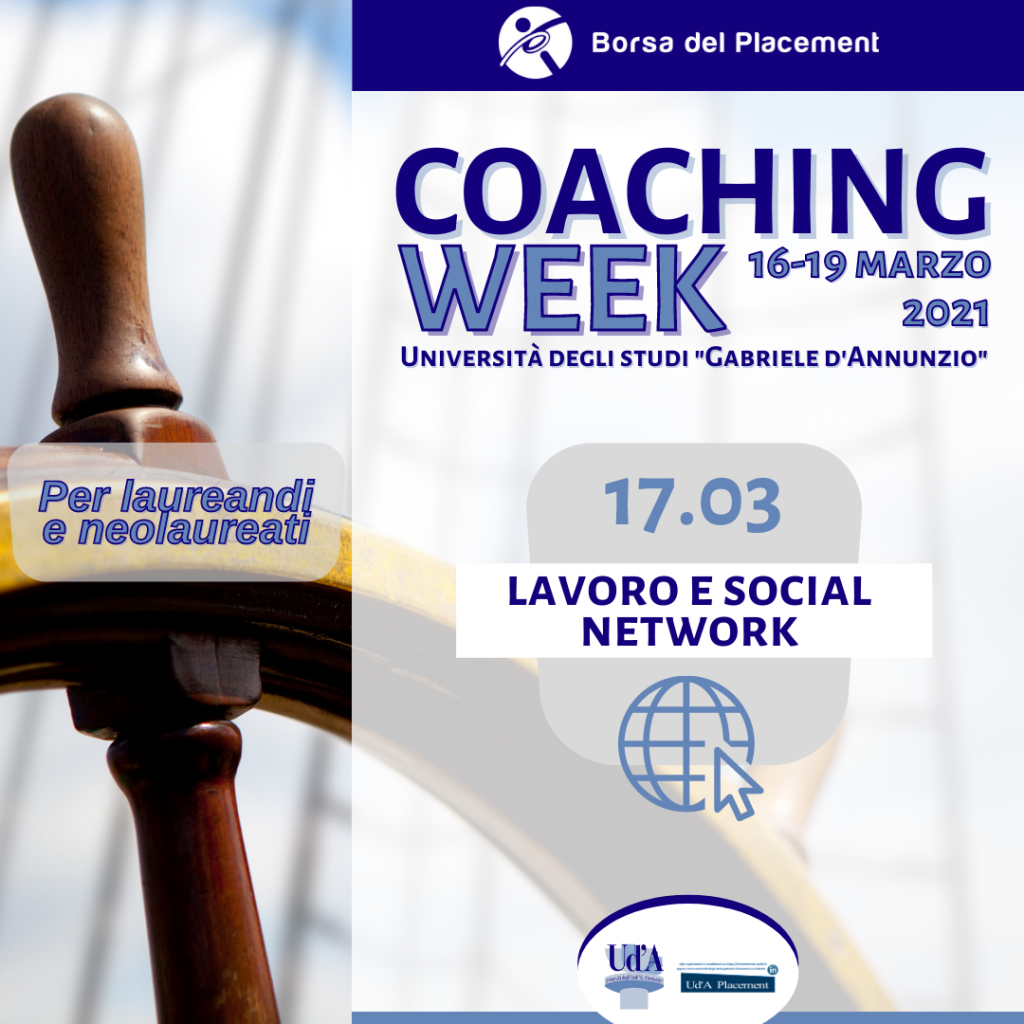 Coaching Week Ud'A | Lavoro e Social Network