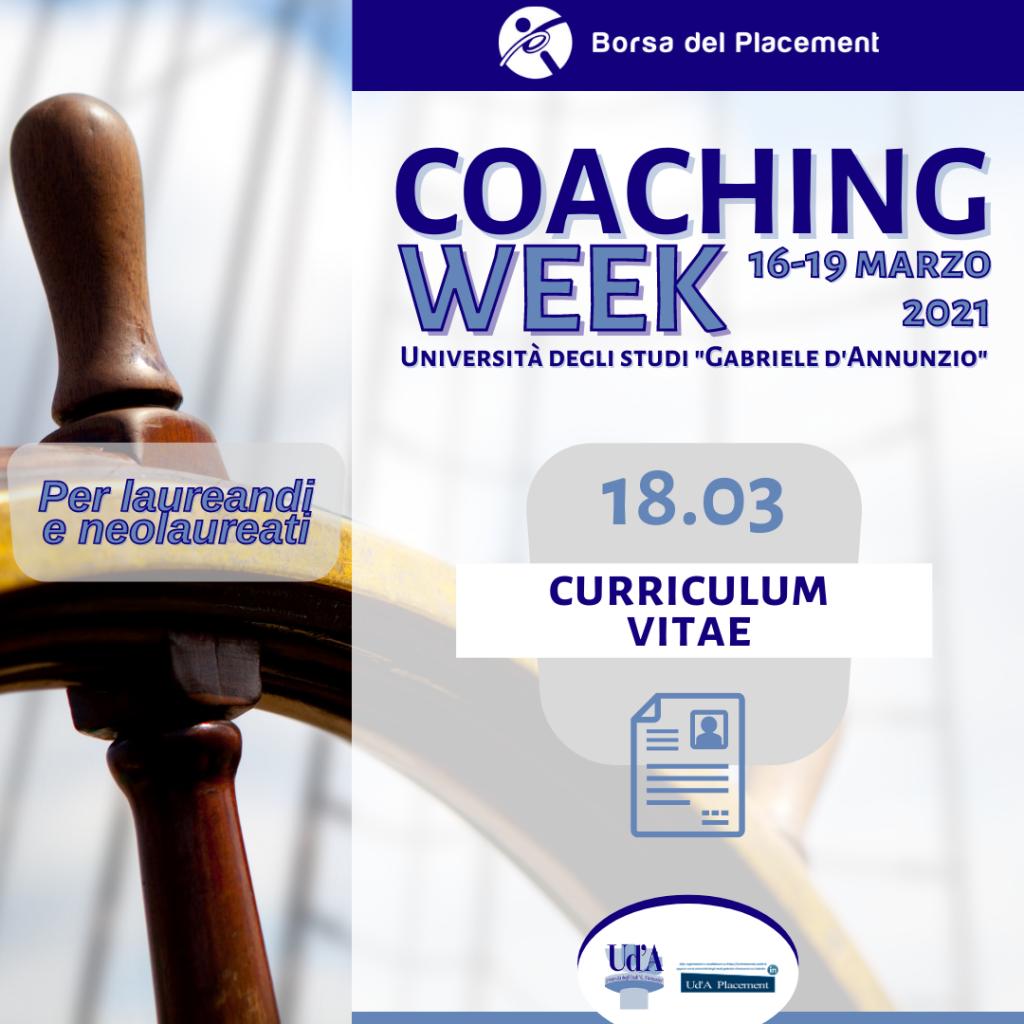 Coaching Week Ud'A | Curriculum Vitae