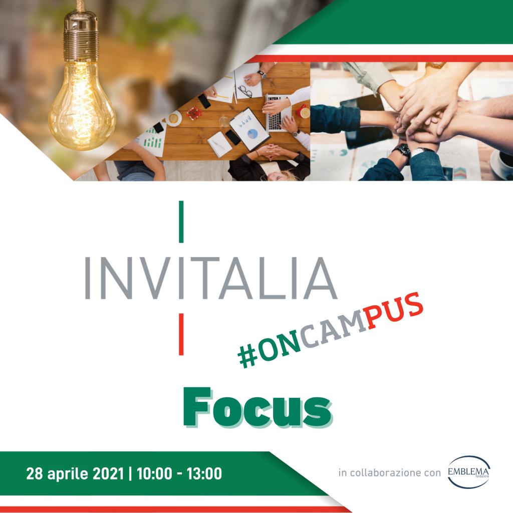 Invitalia #oncampus | Focus