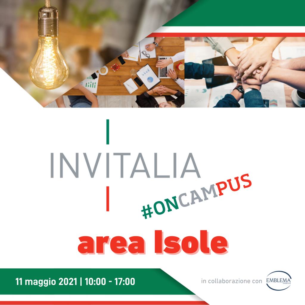 Invitalia #oncampus 2021 | Area Isole