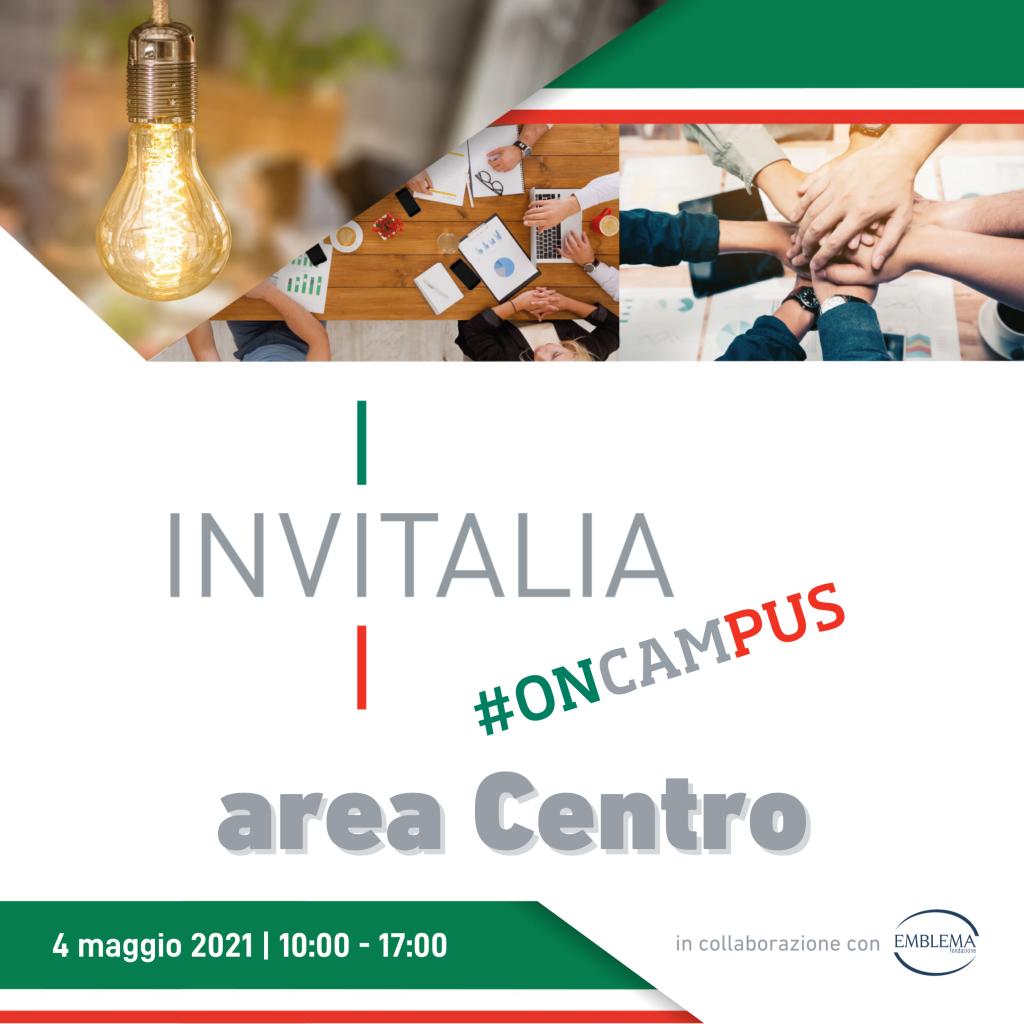 Invitalia #oncampus 2021 | Area Centro