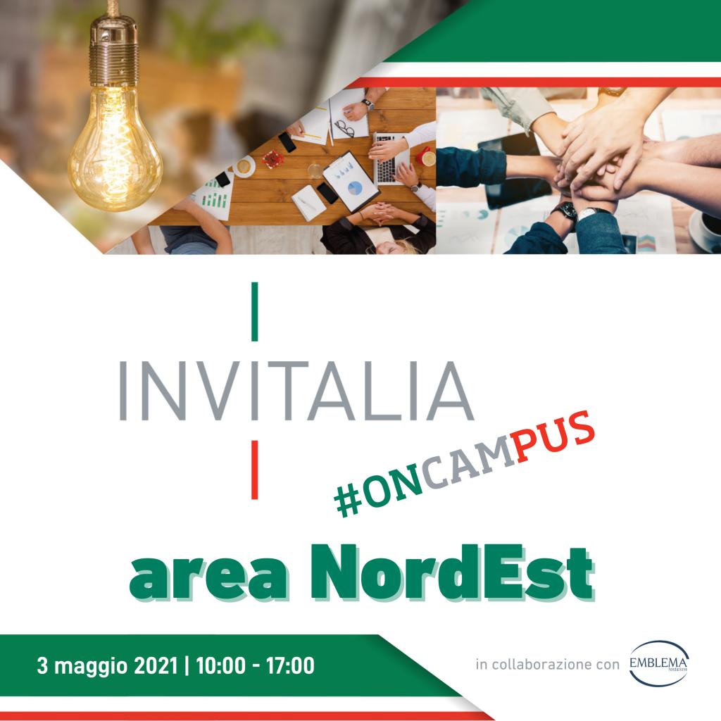 Invitalia #oncampus 2021 | Area NordEst