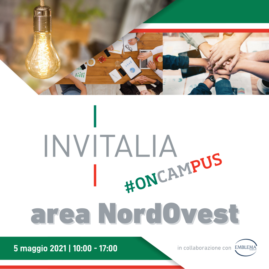 Invitalia #oncampus 2021 | Area NordOvest