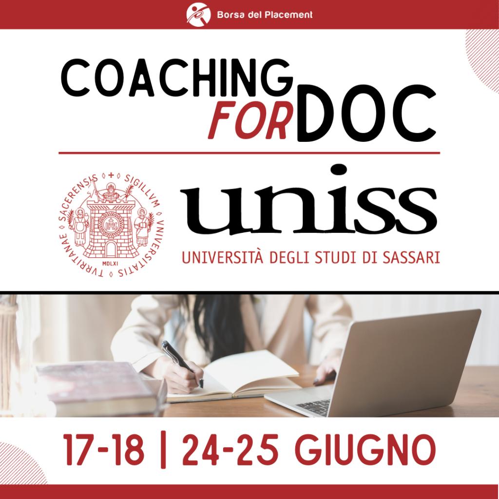 Coaching forDoc | Università degli Studi di Sassari
