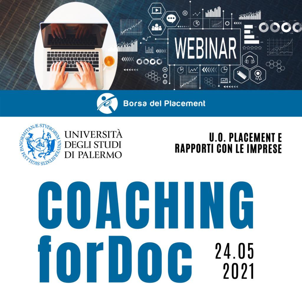 Coaching forDoc | Università degli Studi di Palermo