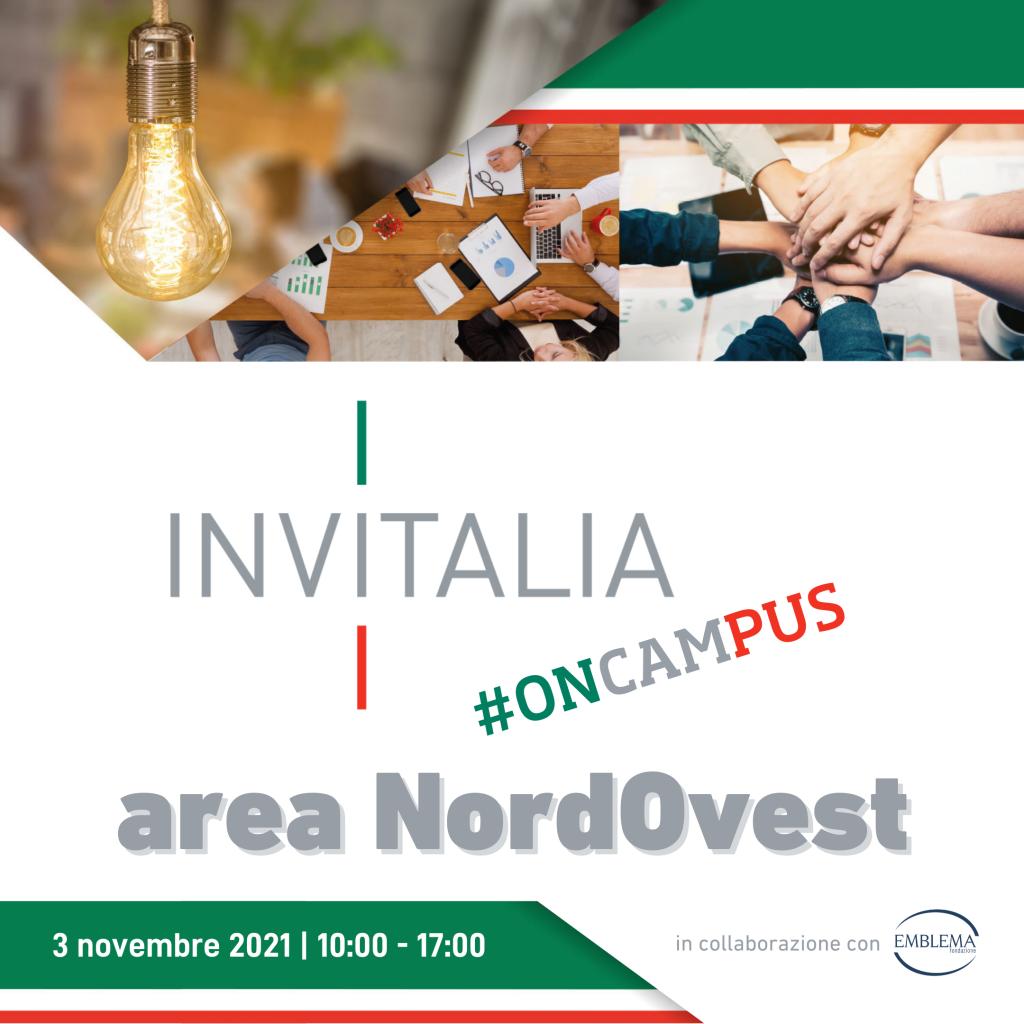 Invitalia #oncampus | Area NordOvest