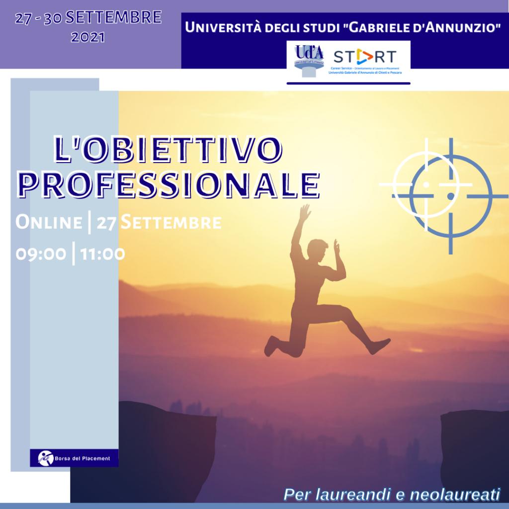 Coaching Week | L'obiettivo Professionale | Ud'A