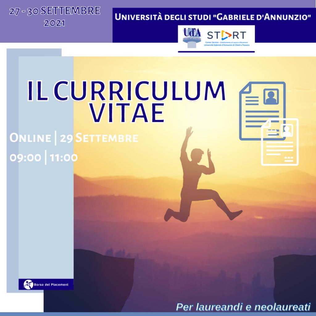 Coaching Week | Curriculum Vitae | Ud'A