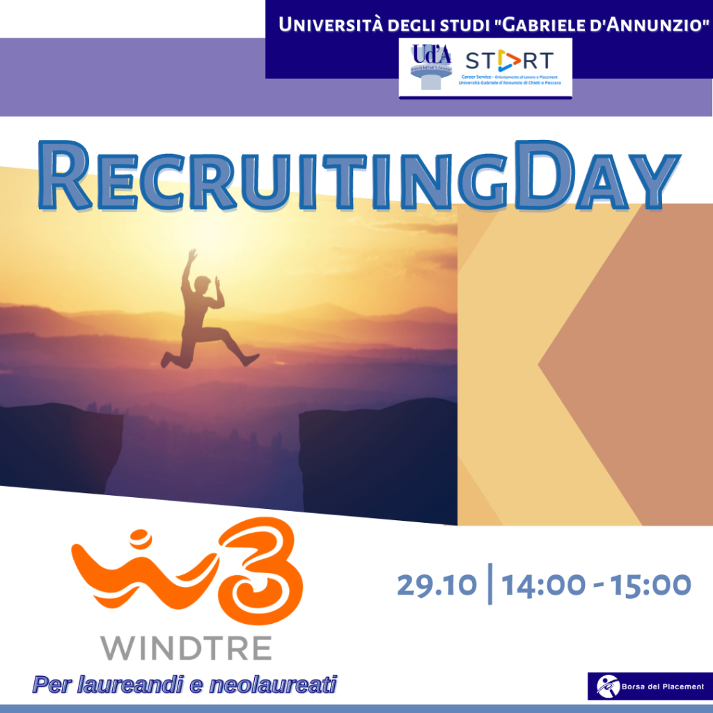 Recruiting Day | Ud'A | WindTre