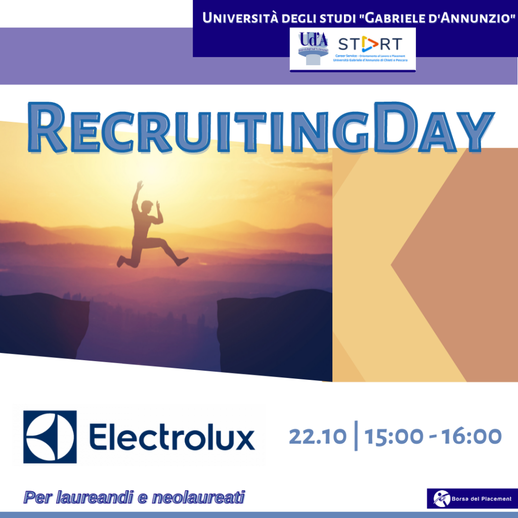 Recruiting Day | Ud'A | Electrolux