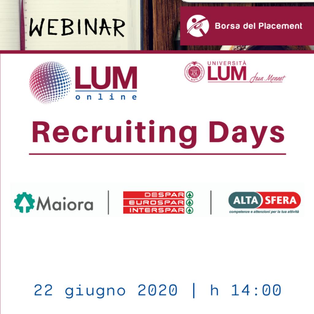 LOL - LUM On Line | Recruiting Days | Maiora