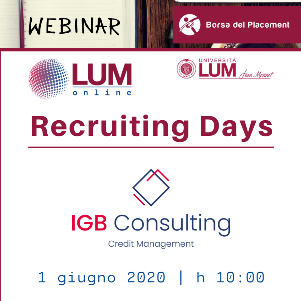 LOL - LUM On Line | Recruiting Days | IGB Consulting