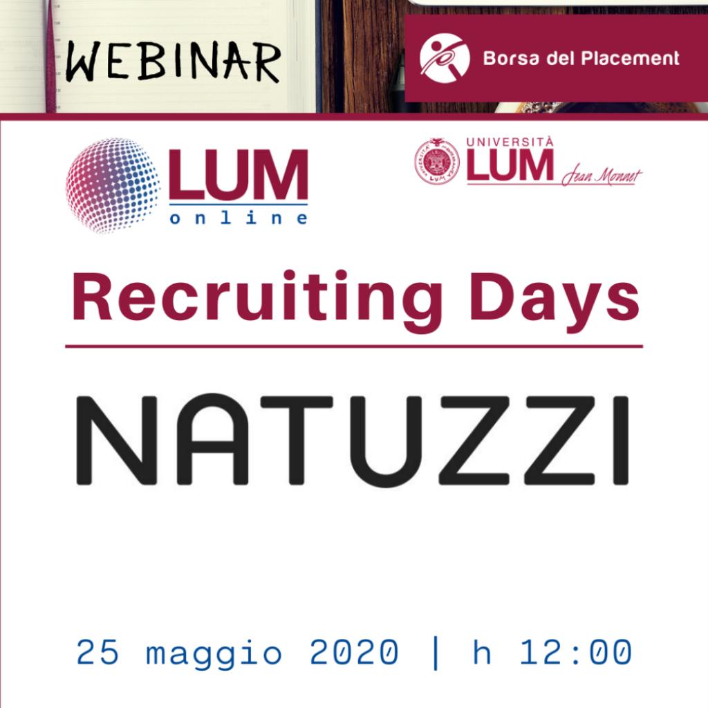 LOL - LUM On Line | Recruiting Days | Natuzzi