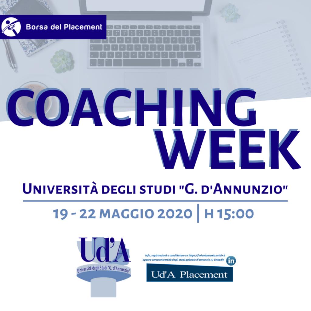 Coaching Week | Università degli Studi Gabriele d'Annunzio