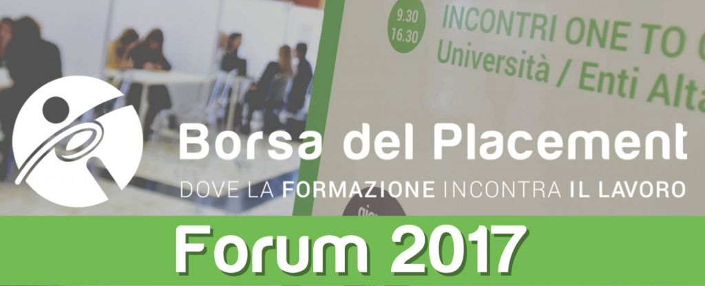 13.11.2017 - Borsa del Placement | XI Forum