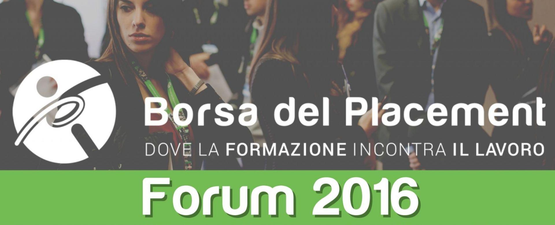 01.12.2016 - Borsa del Placement | X Forum
