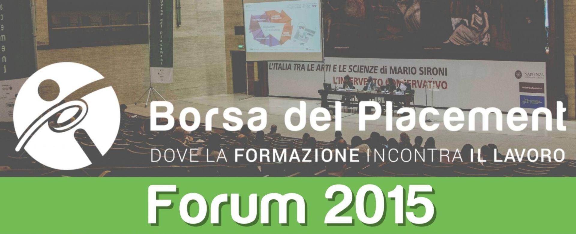 31.10.2015 - Borsa del Placement | IX Forum
