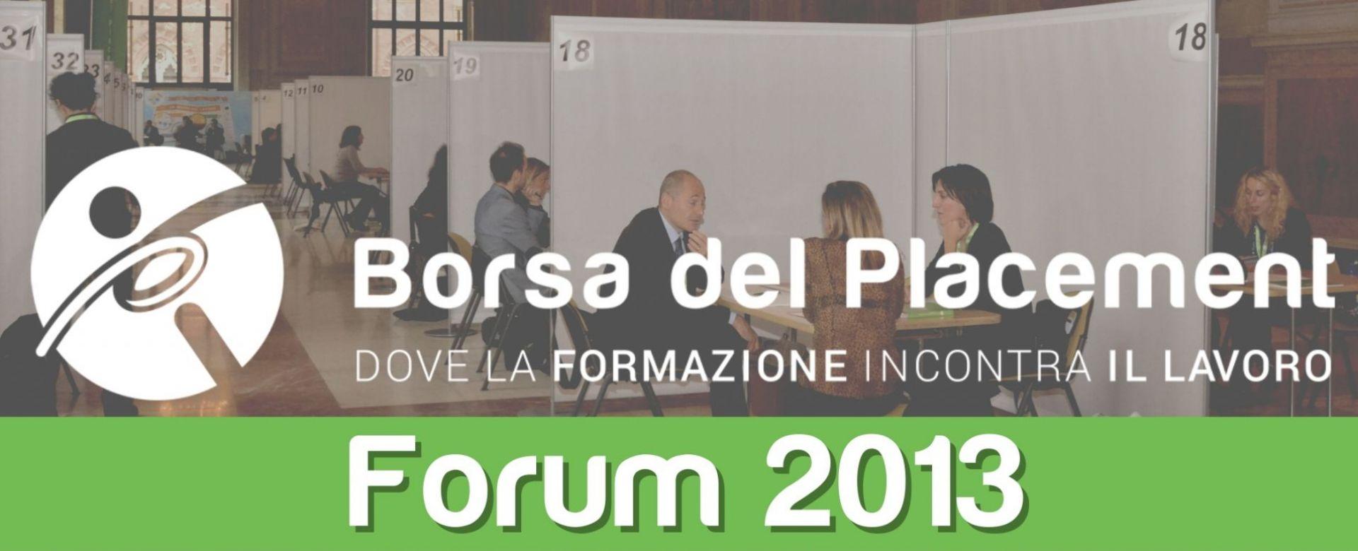 31.10.2013 - Borsa del Placement   VII Forum
