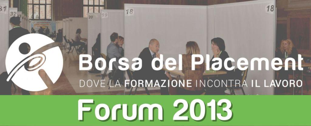31.10.2013 - Borsa del Placement | VII Forum