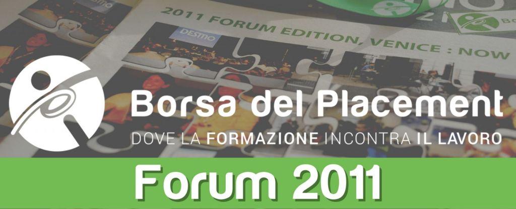 24.10.2011 - Borsa del Placement | V Forum